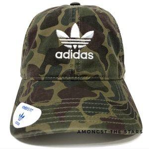 adidas Trefoil Army Green Camo Strapback Hat